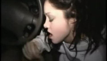Drunk teen gives a blowjob after a party