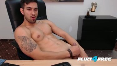 Gorgeous Guy Shoots a Load of Cum All Over His Athletic Smooth Body
