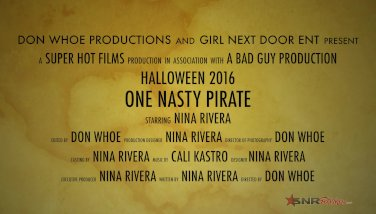Sexy Pirate Fucks Herself With Her Sword / Nina Rivera