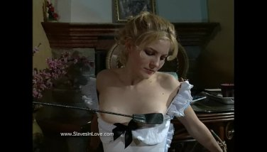 Master humiliates his housemaid and treats her like a slave