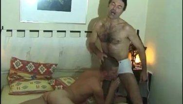 Hairy gay bear having fun with twink