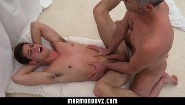 MormonBoyz- Boy fucked while sucking huge cock at cult gloryhole