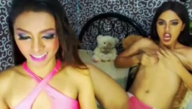 Hot Shemale Duo Play Both Ass and Cock