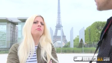 Hot Blonde Jessie Volt gets Fucked in Front of the Eiffel Tower