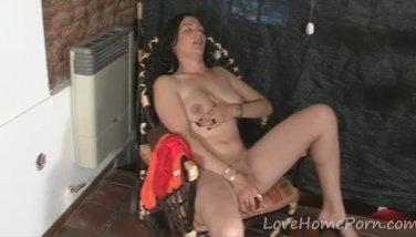 Milf in red lingerie enjoys getting plowed