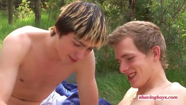 young boys shaving outdoors - young legal twinks 18 yo