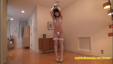 Petite Jav Teen Teases With Her Legs Spread Wide And Handcuffed To Chain