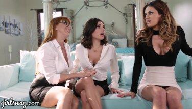 Lesbian Boss Makes Employees Prove they Like Girls!