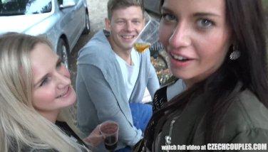 Threesome Sex on Public