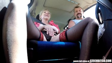 Mirek takes mature busty whore on public 5