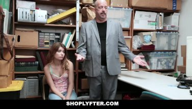 Shoplyfter - Teen Arrested And Fucked In Front Of Dad