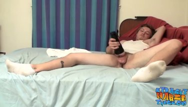 Sexy butt Noah Radford jerking off his long strong dick