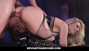 DeviantHardCore - Blonde Slut Caged Up & Dominated - duration 10:20