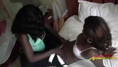 Kinky ebony lesbians going really soft