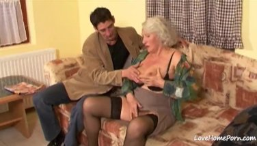Granny is still quite a skilled cock pleaser