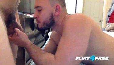 Flirt4Free - Angel & Max - Hot Gay Latinos Bareback and Felch