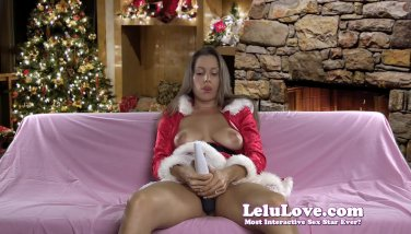 Naughty Miss Claus still needs self love even when it's not XXXmas