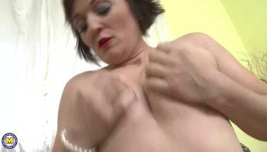 Naughty housewife Jara playing with herself