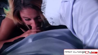 FirstClassPOV - Big booty Liv Aguilera sucking a big hard dick, big boobs