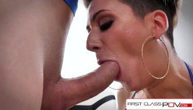 FirstClassPOV - Della Dane sucking a monster cock, big boobs & big booty