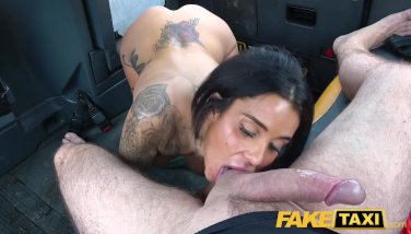 Fake Taxi Horny deepthroat and busty anal fuck reward for driver - duration 7:59