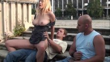Daring Public Sex Street Threesome. AWESOME!