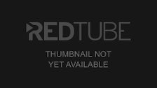 Blindfolded babe outside toyed with food