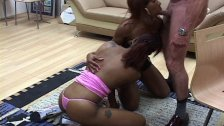 Threesome ebony sluts cum hungry as hell