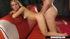 Nicki Blue fun with Shemale Sarina Valentina