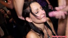 Euro party amateurs facialized after fucking