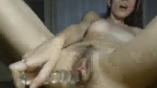 Skinny Hottie With Nice Tits Glass Dildo Fun