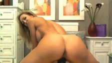 Brandi Love Riding Big Purple Dildo