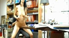 Sex with librarian on table