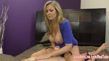 Busty Milf Julia Ann Jacks Him Off!
