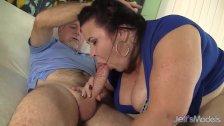 Big titted mature BBW Lady Lynn gets her puss