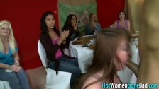 Horny babes sucking cock