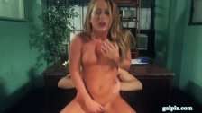 Pierced Nipples Blonde Takes Pounding On Desk