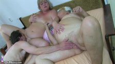 OldNanny BBW mature and Old granny with guy