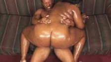 Ebony BBW Babe Rides On Top