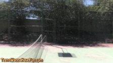 Tennis amateur flashing