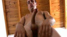 Javier gets hard and blows his hot load