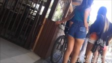 Spycam Young Teen In Shorts