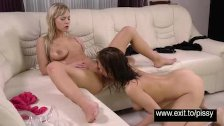 Extreme lesbian piss party Ophra and Antonia