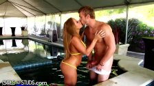 Poolboy gets his Loose Latina MILF