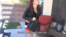 Sarah B. female desperation & wetting