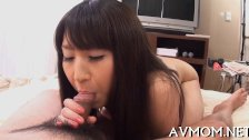 Hot milf devours large cock