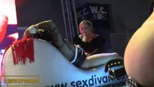 Public BDSM porno show on stage
