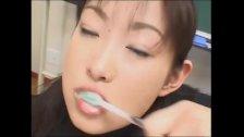 Compilation Asian cum  brushing 6