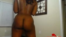 Big Booty Ebony Naked Pole Dancer