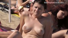 Fantastic girl Topless on the Beach
